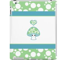 Green Polka Dotted Mushroom iPad Case/Skin