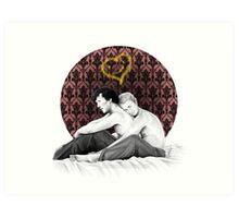 Johnlock - Snuggling Thoughts Art Print