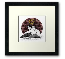 Johnlock - Snuggling Thoughts Framed Print