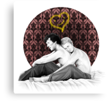 Johnlock - Snuggling Thoughts Canvas Print