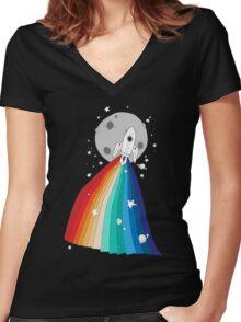 Pride Rocket T-shirt femme moulant col V