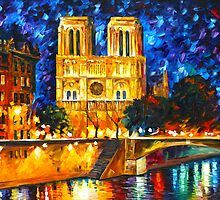 NOTRE DAME DE PARIS - Leonid Afremov by Leonid Afremov