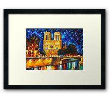 NOTRE DAME DE PARIS - Leonid Afremov Framed Print