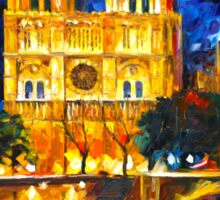 NOTRE DAME DE PARIS - Leonid Afremov Sticker