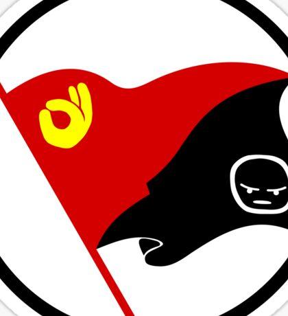 Anarcho-Communist Emoji Flag (Circled) Sticker