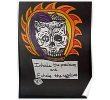 Skull lady with a message  Poster