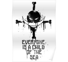 A Child of The Sea - Black Poster