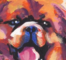 Tibetan Spaniel Bright colorful pop dog art Sticker