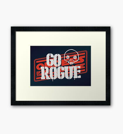 Go Rogue Framed Print