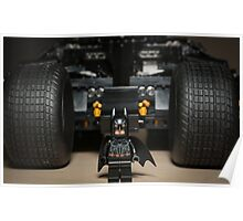 Batman Stare with Tumbler Poster