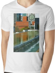 San Francisco Exquisite Lines and Patterns - Reflecting on SFMOMA Mens V-Neck T-Shirt