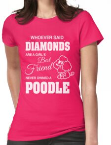 Woman Poodle T Shirt Gift Womens Fitted T-Shirt