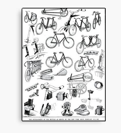 BICYCLES; Vintage Development 1897 Print Canvas Print