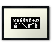 My Favorite Murder - Murderino (white text) Framed Print