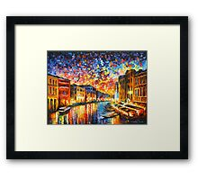 VENICE - GRAND CANAL - Leonid Afremov Framed Print