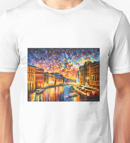 VENICE - GRAND CANAL - Leonid Afremov Unisex T-Shirt