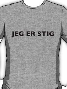 I AM THE STIG - Norwegian Black Writing T-Shirt