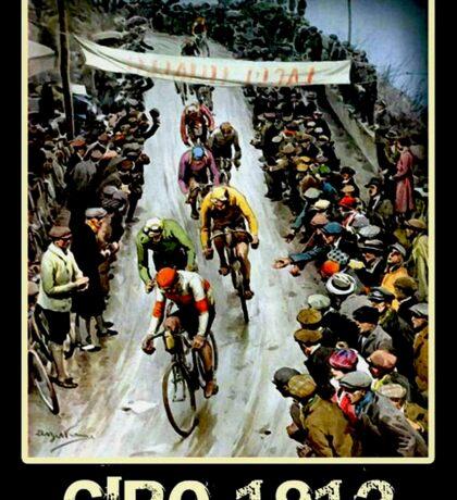 GIRO; Vintage Bicycle Race Advertising Print Sticker