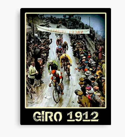 GIRO; Vintage Bicycle Race Advertising Print Canvas Print
