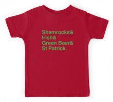 Shamrocks & Irish & Green Beer and ST Patrick Kids Tee