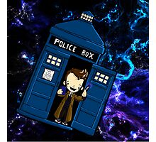 TARDIS in SPACE doctor who 10 Photographic Print