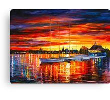 HELSINKI - SAILBOATS AT YACHT CLUB - Leonid Afremov Canvas Print