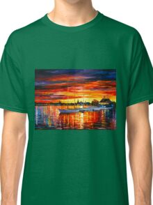 HELSINKI - SAILBOATS AT YACHT CLUB - Leonid Afremov Classic T-Shirt