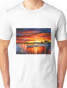 HELSINKI - SAILBOATS AT YACHT CLUB - Leonid Afremov Unisex T-Shirt