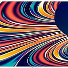 Color and Form Abstract - Solar Gravity and Magnetism 2 by Leah McNeir