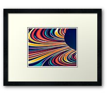 Color and Form Abstract - Solar Gravity and Magnetism 2 Framed Print
