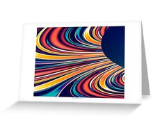 Color and Form Abstract - Solar Gravity and Magnetism 2 Greeting Card