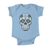 Skull - blue One Piece - Short Sleeve