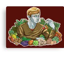 Kieren and Vegetables Canvas Print