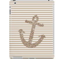 Gold Stripes Nautical Anchor iPad Case/Skin