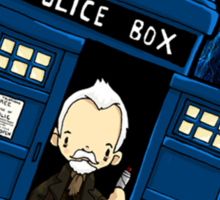 TARDIS in SPACE doctor who 8.5 war Sticker