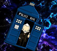 TARDIS in SPACE doctor who 8.5 war by Bantambb