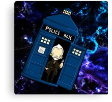 TARDIS in SPACE doctor who 8.5 war Canvas Print