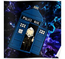 TARDIS in SPACE doctor who 8.5 war Poster