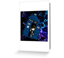 TARDIS in SPACE doctor who 2 Greeting Card