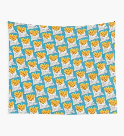 French Fries Pattern Wall Tapestry