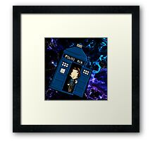TARDIS in SPACE doctor who Framed Print