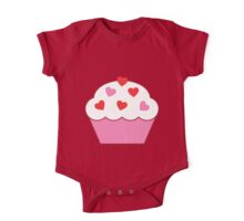 Cupcake Of Hearts One Piece - Short Sleeve
