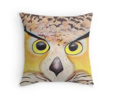 The night owl Gaze  Throw Pillow