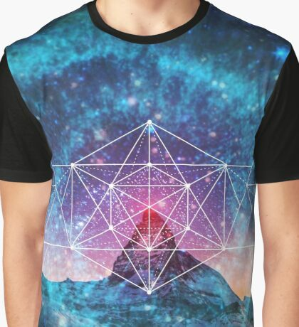 Sacred Geometry - Space Triplet Graphic T-Shirt