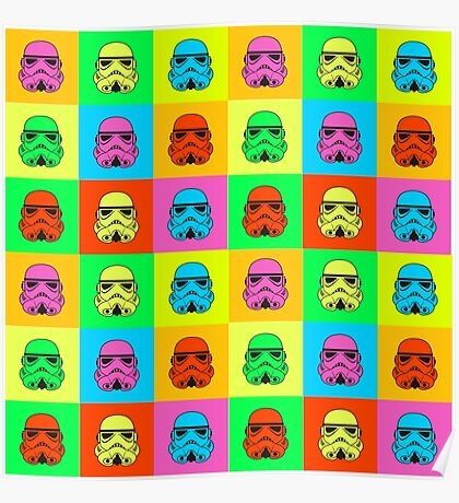 Colourful Trooper Collage Poster