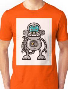 Robot Monkey Character Design   Unisex T-Shirt