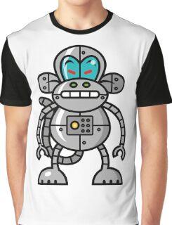 Robot Monkey Character Design   Graphic T-Shirt