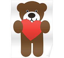 Teddy Bear Heart Poster