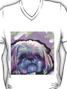 Shih Tzu Bright colorful pop dog art T-Shirt