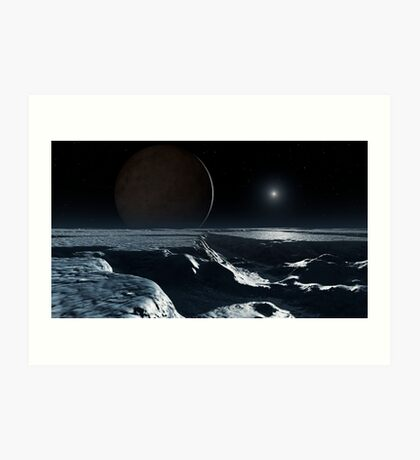 Charon Seen From Pluto Art Print